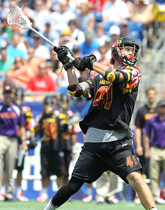 Maryland's Kevin Cooper scored one of the Terrapins' three goals in the championship.