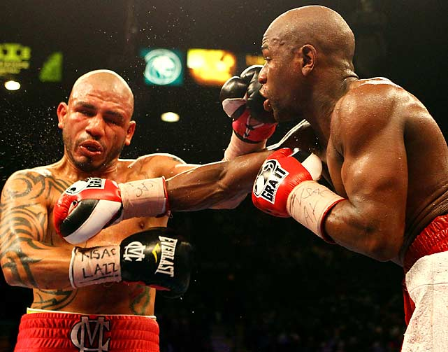 """""""He's a tough competitor,"""" Mayweather said after the fight. """"He came to fight, he didn't just come to survive. I dug down and fought him back."""""""