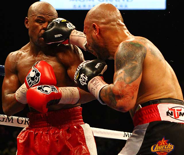 The 12-round bout with Cotto was one of Mayweather's toughest ever.