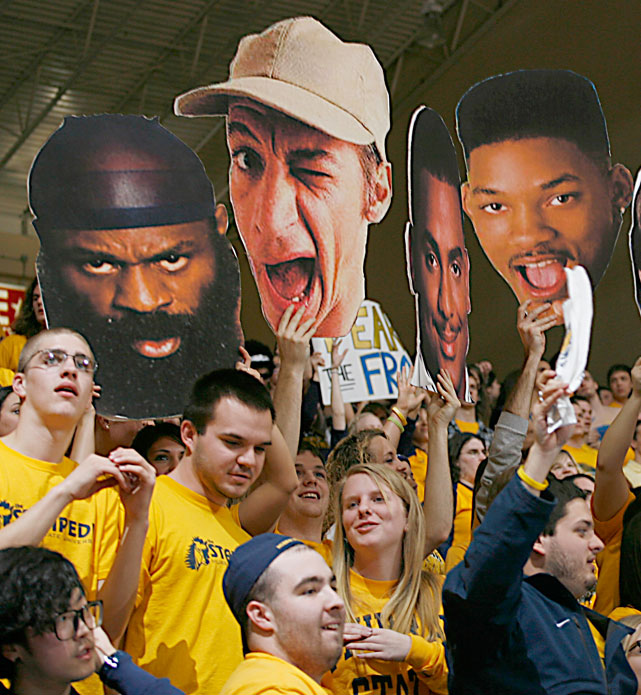 Murray State fans keep it real with the amazing combination of Kimbo Slice, Ernest (of Ernest Goes to Camp fame), Carlton and Will Smith.