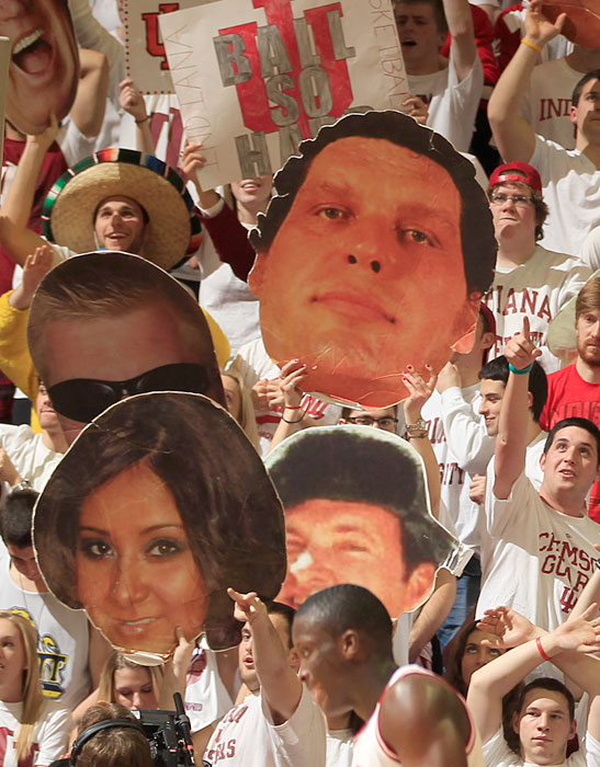 Hoosiers fans honor Snooki and Andre the Giant.