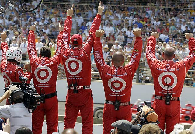 Franchitti's crew let's everyone know who's No. 1.