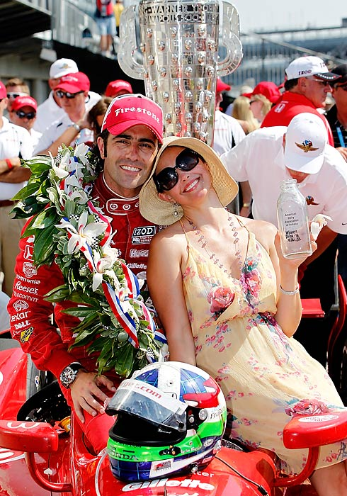 Ashley Judd then got to celebrate with Franchitti.