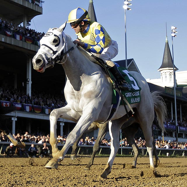 This nearly white horse, who's named after his colorful owner, Dr. Kendall Hansen, has become a fan favorite since his game victory in the Breeders' Cup Juvenile in the November. He likes to go straight to the front and try to hang on, and that style has produced four wins and two seconds in six career starts. That front-running style, however, may not fit the dynamics of this race, which is loaded with front-end speed.