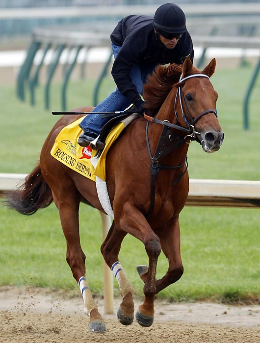 This Jerry Hollendorfer-trained chestnut is one of many Kentucky Derby entrants who seem to have done their best running as two-year-olds. In six starts last year, including five on artificial surfaces, Rousing Sermon had two wins, two seconds and two thirds. In three starts this year on conventional dirt, he has not finished better than third. Though his late-running style fits the expected shape of this race, he'll go off as one of the longest shots on the toteboard.