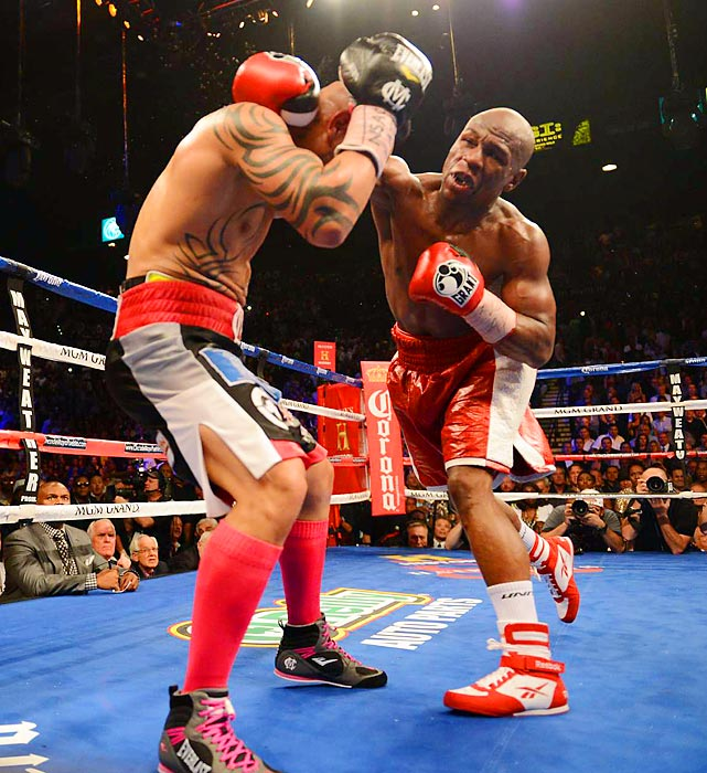 Floyd Mayweather beat Miguel Cotto by unanimous decision and took away his 154-pound title on May 5 in Las Vegas.