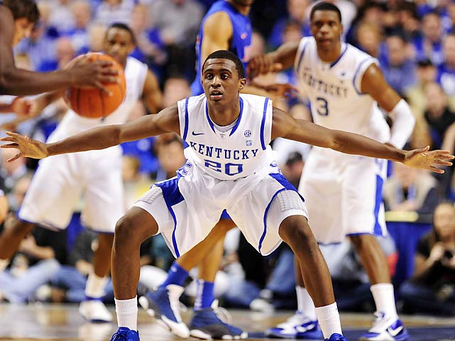 He stands out with his shooting. Lamb is the top three-point shooter in Kentucky history at 47.5 percent, showing impressive consistency as he made 48.6 percent as a freshman and 46.6 percent as a sophomore. He led the Wildcats with 22 points in the national championship game against Kansas, one of his two 20-point games in the NCAA tournament.