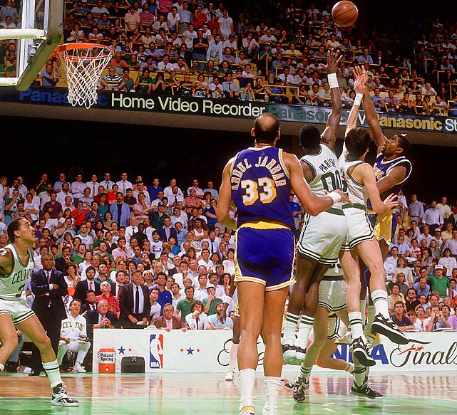 The Lakers didn't play many close playoff games during their romp to another title, but one they did play stands out in NBA history: Magic Johnson's sky hook gave Los Angeles a 107-106 victory against Boston in Game 4 of the Finals, putting the Lakers ahead 3-1 and setting up their clinching win back home in Game 6.