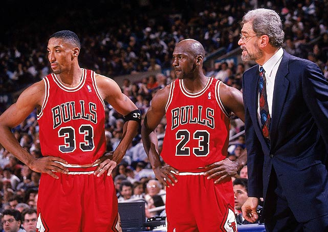 On the heels of a record-setting 72-10 regular season, the Bulls cruised through the playoffs with one loss (in overtime) to the Knicks in the Eastern Conference semifinals and two losses (after taking a 3-0 lead) to the SuperSonics in the Finals. This marked the first title in their second three-peat.