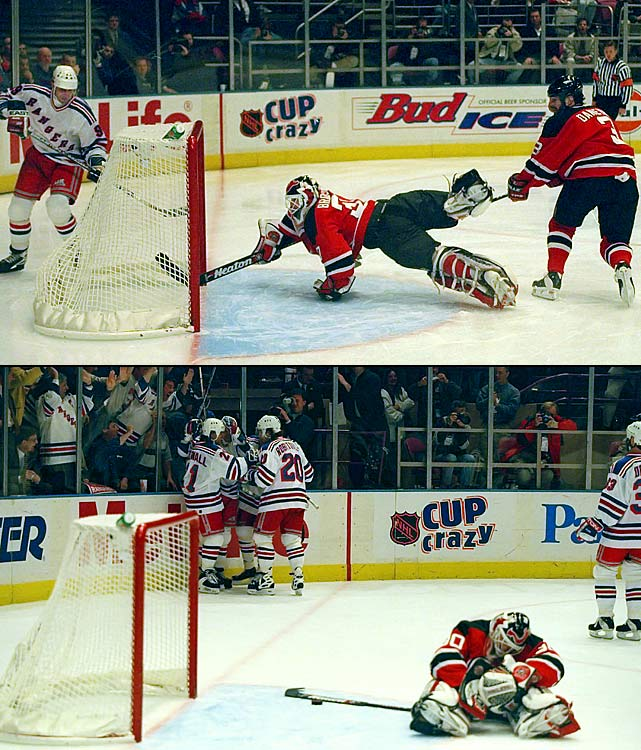 """After losing the opener, the Rangers shocked the Devils by eliminating them in five games. A notable member of that New York squad was Wayne Gretzky, who had famously called the Devils a """"Mickey Mouse"""" organization after his Edmonton Oilers had routed them in a November 1983 game by the score of 13-4."""