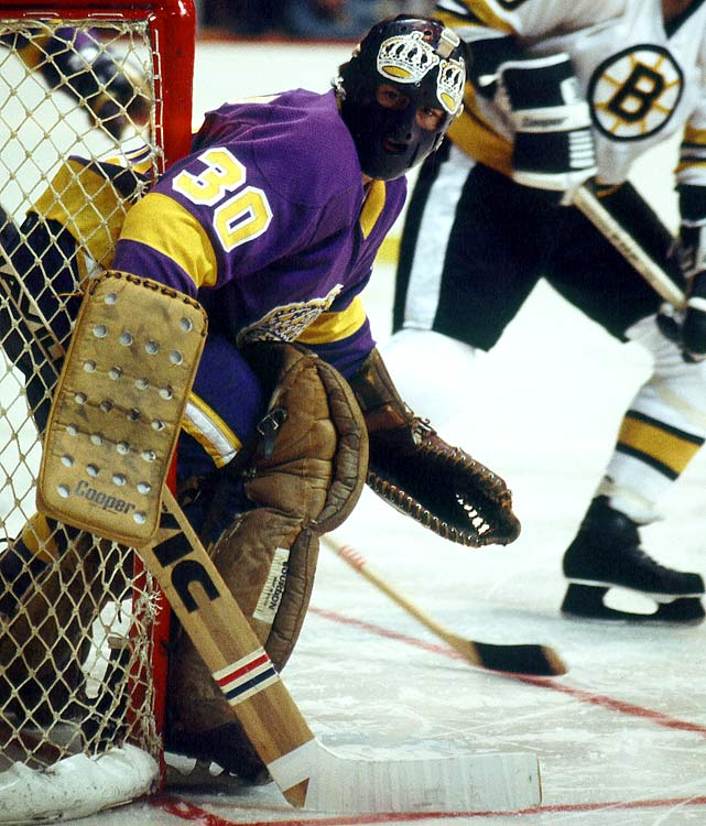"The winner of the 1967-68 Vezina Trophy lost his starting gig in Montreal when Ken Dryden came along, so he was traded to LA in November 1971, giving the Kings one of their first big stars. ""Rogie"" tended their net for seven seasons and is still the franchise's all-time wins leader, with 171.  He also compiled 32 shutouts and a 2.86 goals-against average during his time with Los Angeles, which retired his number 30."