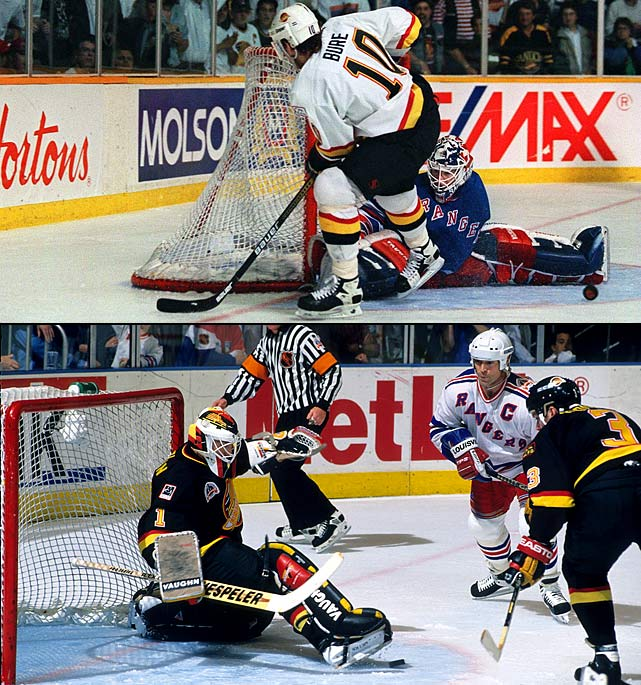 Rallying out of a three-games-to-one hole in their thrilling first round series vs. Calgary (2), the seventh-seeded Canucks won the last three matches in OT and then moved on take out Dallas (4) and Toronto (3) in five games apiece. Vancouver played valiantly in the final vs. the Rangers, the East's top seed, who were on a romantic quest to end their 54-year Cup drought. The series went seven before New York held on to win the clincher, 3-2.