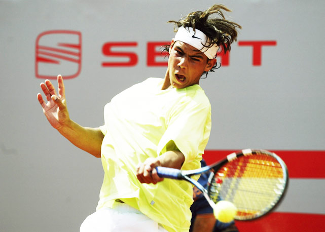 Rafa benefited from a retirement in the first round of Barcelona, but lost to Alex Corretja in the second round.