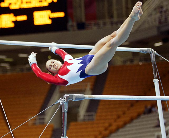 Her nine NCAA national titles at Georgia make her the most accomplished collegiate gymnast in history. She helped the Gym Dogs to their seventh national title. In 2003 and 2004, she won all-around national titles and earned a bronze medal in the uneven bars and a silver as a member of Team USA's 2004 Athens squad.