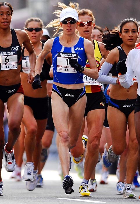 A seven-time SEC titleholder at Arkansas, the former Razorback went on to become just the second American woman to win an Olympic medal in the marathon when she placed third at the 2004 Athens Games. Two years later, she broke her own American record in the half marathon with a time of 1:07:34 in Berlin. She smashed the American marathon record by running a 2:19:36 in the Flora London Marathon.