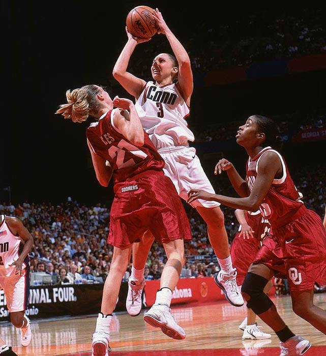 After a stellar college career, in which she led UConn to three straight NCAA championships, Diana Taurasi took her aggressive style of play to the WNBA, forcing everyone to pay attention. Taurasi won Rookie of the Year her first season and has been named to the All-WNBA First Team and WNBA All-Star team five years. In 2009, Taurasi was named WNBA MVP and Finals MVP. She also helped the U.S. to Olympic gold in 2004 and 2008.