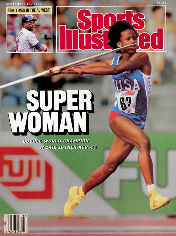 Jackie Joyner-Kersee is considered by some to be the greatest female athlete of the 20th century. Just 10 when Title IX was passed, she developed into an elite athlete at the beginning of a new era for women's sports. She embodied the identity of a female athlete, and was a role model for women all over the world. Joyner-Kersee won six medals over the span of four Olympics, including three gold in the heptathlon and long jump. At UCLA, Joyner-Kersee was a track and basketball star, scoring more than 1,000 points in her career.