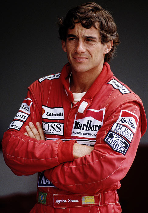 Ayrton Senna, who won the Formula 1 championship in 1988, '90 and '91, died in a crash while leading the San Marino Grand Prix in 1994 at age 34. The Brazilian is considered one of the greatest Formula 1 drivers ever.
