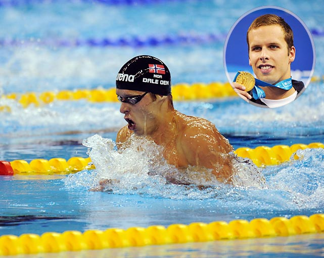 Just as it was moving past the death of Fran Crippen, the swimming world lost another star prematurely. Norway's Alexander Dale Oen, reigning world champion in the 100-meter breaststroke, died April 30, 2012 of cardiac arrest at a training camp in Flagstaff, Ariz. Dale Oen won the silver medal at the 2008 Olympics in the 100-meter breaststroke, finishing second to breaststroke prodigy Kosuke Kitajima, and was a favorite to medal, if not win, the 100-meter breaststroke at the 2012 Olympics in London.