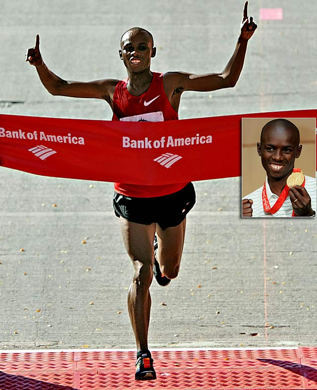 The first Kenyan to win gold in the Olympic marathon, Wanjiru died at age 24 after a fall from a balcony. There are conflicting reports as to why Wanjiru jumped from the balcony, but reports say it followed a domestic dispute. Police say foul play is not suspected.