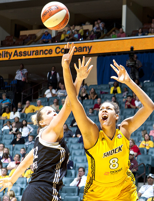 "Last year's highly-touted draft pick from Australia was selected as an All-Star in her rookie year, and looks to go up from there. The 6'8"" Cambage led the Shock in blocks in 2011, and will look to make a greater offensive impact in 2012, as Tulsa's top scorer is out for the season."