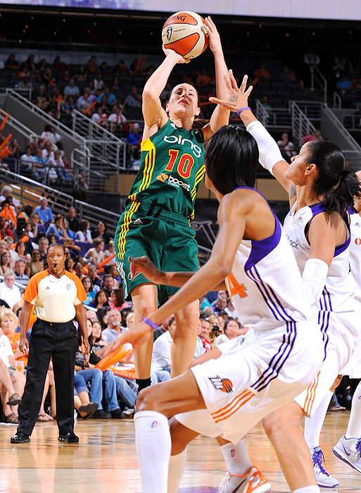Sue Bird is entering her 11th season in the WNBA, but her statistics don't reflect her age. The two-time WNBA champion will start the season without three-time WNBA MVP Lauren Jackson on the court with her, but she's more than suited to carry the weight of the Storm until after the Olympics (when Jackson will rejoin the team). She started every game for Seattle last year, and is expected to do the same in 2012.