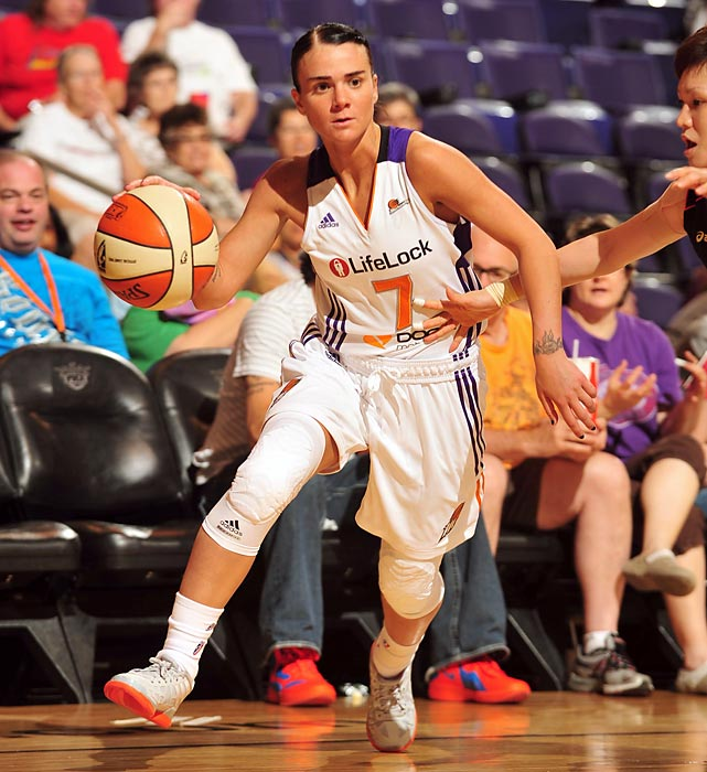 Samantha Prahalis, the Mercury's first-round draft pick, should fit in seamlessly with this fast-paced team. Prahalis' flashy style was often criticized at the collegiate level, but should be more accepted in the WNBA. She will be expected to complement veteran Diana Taurasi, as veteran forward Penny Taylor is out for the season with a torn ACL.