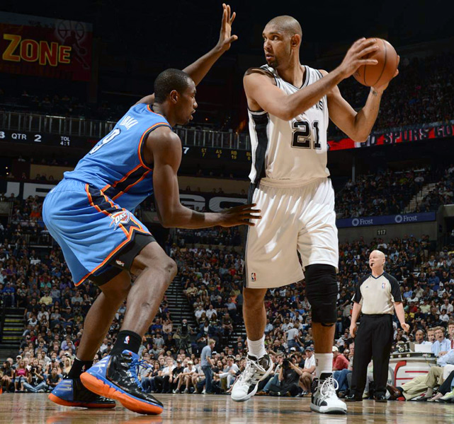 Age:  36    Position:  Power Forward/Center   2011-12 Team:  Spurs    2011-12 Stats:  15.4 ppg, 9.0 rpg, 2.3 apg, 1.5 bpg  Skinny:  Duncan is a free agent in name only. The future Hall of Famer is expected to re-sign with San Antonio.