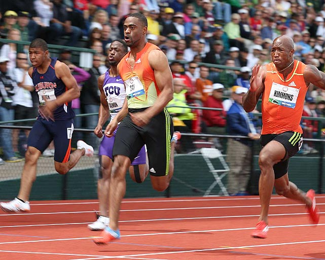 Five years ago, Gay was the fastest man in the world. At the 2012 trials, he wasn't even the fastest man on the track in the 100 meters. Gay, who's still working his way back from hip surgery, finished second behind Justin Gatlin with a time of 9.86, his best since last spring. He'll make his second Olympic appearance this summer.