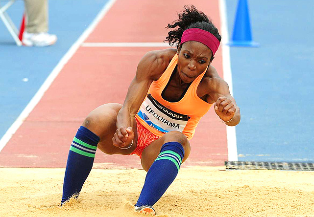 Blessing Ufodiama placed seventh in the triple jump, behind fellow American Erica McLain.