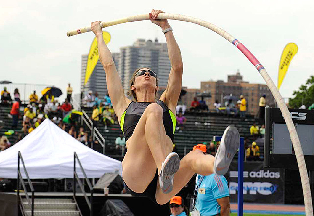 Lacy Janson finished sixth in the pole vault -- the highest finish for any U.S. woman in the event.