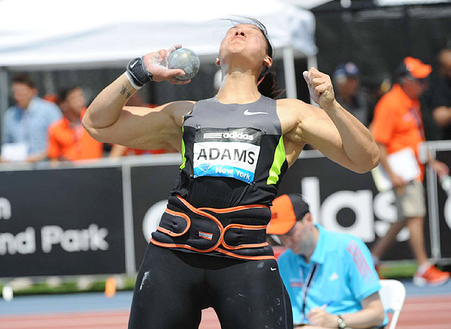 New Zealand's Valerie Adams won the women's shot put competition with a throw of 20.60 meters.