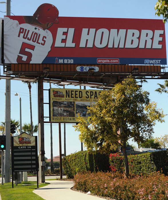 "After Albert Pujols signed the second-largest contract in MLB history this past offseason, the Los Angeles Angels immediately went to work publicizing their $254 million ""man,"" with billboards throughout Southern California. Pujols reportedly was not a fan of the ""El Hombre"" tag, giving deference to Hall of Fame St. Louis Cardinal (Pujols' former team) Stan ""The Man"" Musial, and the organization pulled most of the signs down."