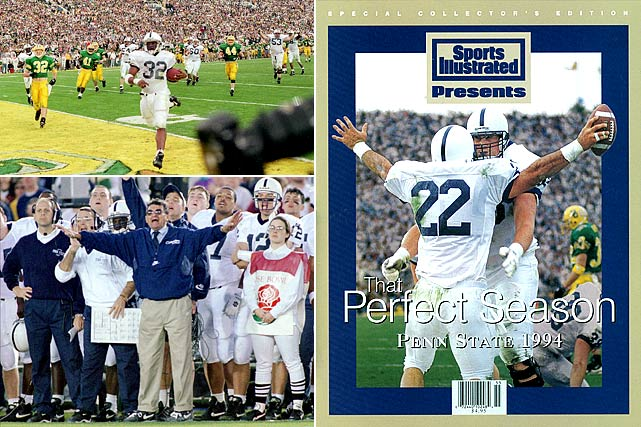 This was one instance where tradition probably got in the way of the best football game. The '94 Nittany Lions had two players finish in the top four of the Heisman Trophy voting (Kerry Collins and Ki-Jana Carter), but because of its Rose Bowl commitment, Penn State played Oregon instead of taking on undefeated Nebraska. Though the Nittany Lions knocked off the Ducks, 38-20, Penn State once again finished an undefeated season second in the polls.