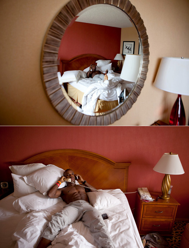 """Peter Quillin, the 27-year-old middleweight contender known as """"Kid Chocolate,"""" allowed SI.com to follow him throughout the day of Saturday's fight with Winky Wright, which began with a 9:30 a.m. wake-up call at the Torrance Marriott near South Bay in Los Angeles. The result is an intimate look at a day in the life of a prizefighter -- and a worm's-eye view of the sweet science circa 2012.  Click the play button underneath each caption to hear Quillin's reflections in his own words."""
