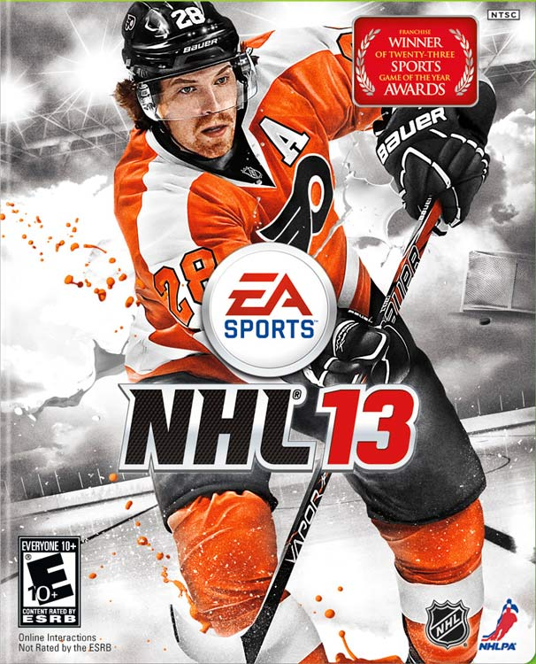 Philadelphia Flyers forward Claude Giroux will grace the cover of NHL 13. The 2012 All-Star right wing netted 28 goals and dished 65 assists this season. Giroux defeated Nashville Predators goalie Pekka Rinne in the final vote to become the first NHL player voted onto the cover of EA's NHL game. NHL 13 is scheduled for a September 11 release on the Xbox 360 and PS3.