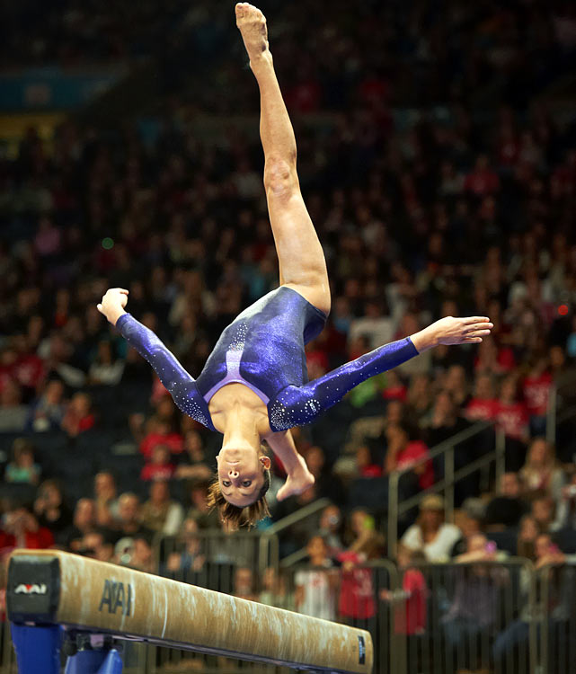 Wieber is already a very accomplished gymnast at the age of 16.  The 2011 all-around world champion has won both the U.S. senior national championship and the American Cup championship twice.  She has been on the women's national team since 2006, when she was just 10 years old, and in her competitive career she has earned 13 gold medals, one silver, and two bronzes.