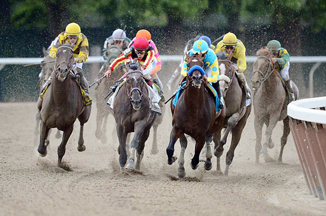 Union Rags picked up right where I'll Have Another left off, coming from behind to catch a Bob Baffert-trained horse at the finish in a Triple Crown race.