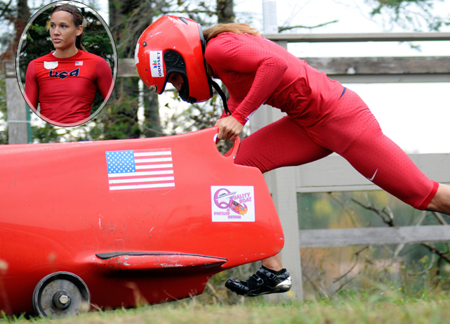 Olympic 100-meter hurdler Lolo Jones helped the U.S. team win gold Jan. 27 in the combined bobsled-skeleton team event at the world championships and is still in the running for a spot in the 2014 Winter Games in Sochi, Russia. Here is a look back at some rare photos of the Summer and (possibly) Winter Olympian.