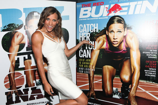 Jones attends the Red Bulletin Magazine Launch in June 2011. Red Bulletin Magazine featured Jones on the July 2011 cover.