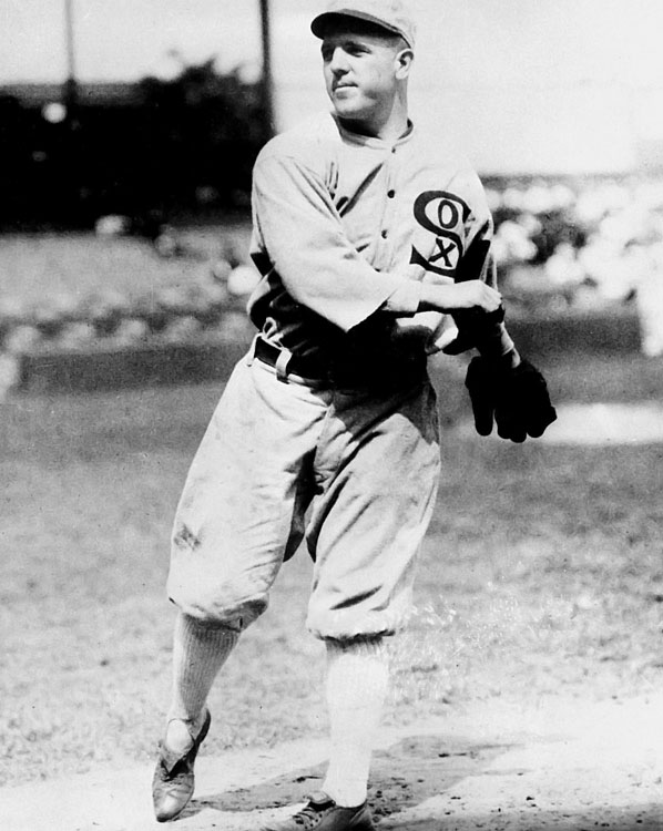 """Knuckles"" was one of the first known knuckleball specialists in major league history, but he remains better known as one of the eight players banned for life after fixing the 1919 World Series. Ciccote was remarkably effective in his nine seasons with the White Sox, leading the American League in wins and ERA in 1917."
