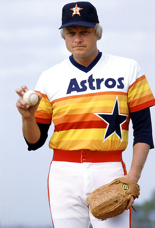 The less accomplished of the knuckleballing Niekro brothers, Joe Niekro still led the National League in wins in 1979 and won a World Series with the Twins in 1987. Over 22 seasons in the majors, Niekro enjoyed two particularly strong campaigns with the Houston Astros in 1979 and 1980. In 1979, Niekro's 21 wins led the league and helped him finish second in the Cy Young voting; he won 20 the next year and finished fourth. Niekro was notoriously caught with a nail file in the dugout in 1987, which earned him a suspension and a highlight on several blooper reels. He died of a brain aneurysm in 2006.