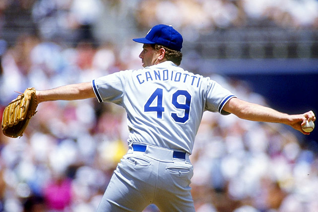 """""""The Candy Man"""" was one of baseball's most recognizable knuckleballers throughout the 1980s and '90s. Candiotti played for five teams in his career, breaking in with the Brewers but logging 13 of his 16 seasons with the Indians and Dodgers. With exceptional control of his knuckler, Candiotti posted a 3.62 ERA in four and a half seasons in Cleveland. After a brief stint with the Blue Jays in the second half of the '91 season, Candiotti moved to Los Angeles, where he had a similarly impressive ERA of 3.57 from 1992 to '97, though he only managed one winning season. Candiotti's effectiveness markedly diminished after he left L.A. in 1997 and he would retire in 1999."""