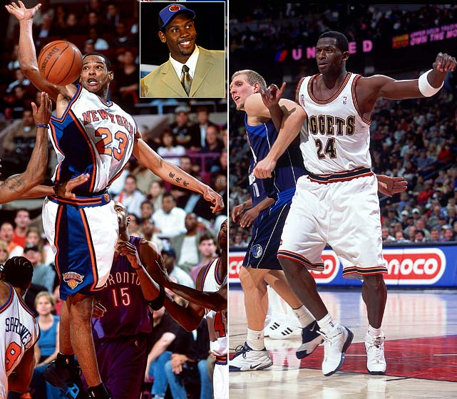 Camby developed into one the NBA's best defenders, Nene developed into one of the NBA's better-shooting centers and the Nuggets developed a core that future draft pick Carmelo Anthony led to the playoffs for seven straight years. McDyess developed a knee injury that saw him miss the '02-03 season, play 18 games the following campaign and get traded to Phoenix in January 2004.