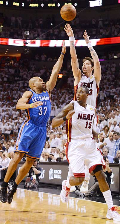 Mike Miller was huge off the bench, hitting seven of his three-point attempts.