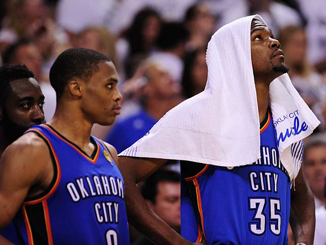 Russell Westbrook and Kevin Durant were pulled from the game early too.
