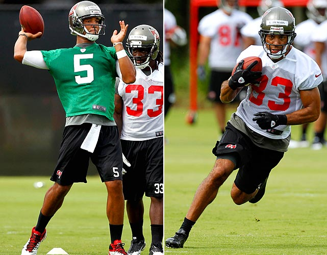 Josh Freeman has the athletic frame, but can he develop chemistry during training camp in Tampa with new arrival Vincent Jackson?