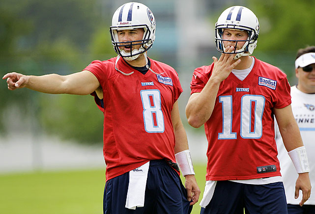 Kenny Britt will be coming into camp healthy after missing all but three games last season.  But the biggest headline out of the Titans' camp in Nashville is that Jake Locker and Matt Hasselbeck will be splitting snaps in Nashville until a starter is decided.