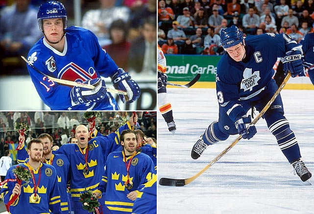 The big (6-5, 231 pounds) center was the first European player ever drafted by an NHL team first overall (Quebec in 1989) and went on to become the first Swede to reach 1,000 points in the league. On the international stage, he became one of Sweden's most acclaimed players while leading his country to gold medals at the World Championships in 1991, '92 and '98, and the 2006 Winter Olympics.