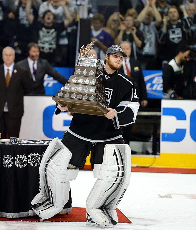 Jonathan Quick is the third American-born Conn Smythe winner, adding one more dominant game to a run in which he set NHL records for save percentage (.946) and goals-against average (1.41) among goalies who played at least 15 postseason games.